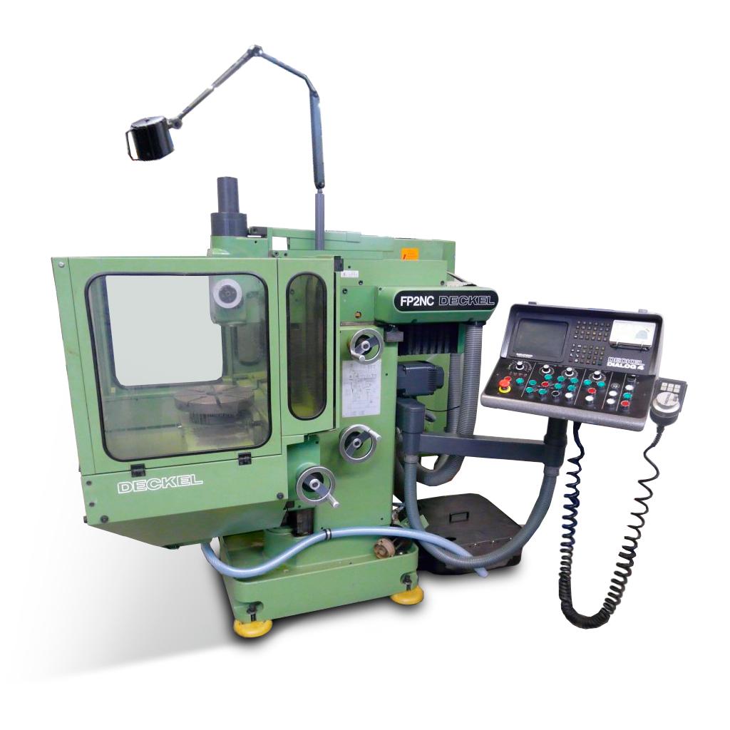 DECKEL FP2 NC 2801-100 mit NC-Teilapparat und DECKEL Dialog 4 Steuerung - von FPS teilüberholt - Bedienung CNC mit Handrad