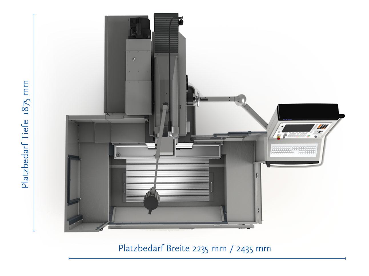 FPS 420M-plus Universal-Fräs- und Bohrmaschine mit Streckensteuerung HEIDENHAIN TNC 128
