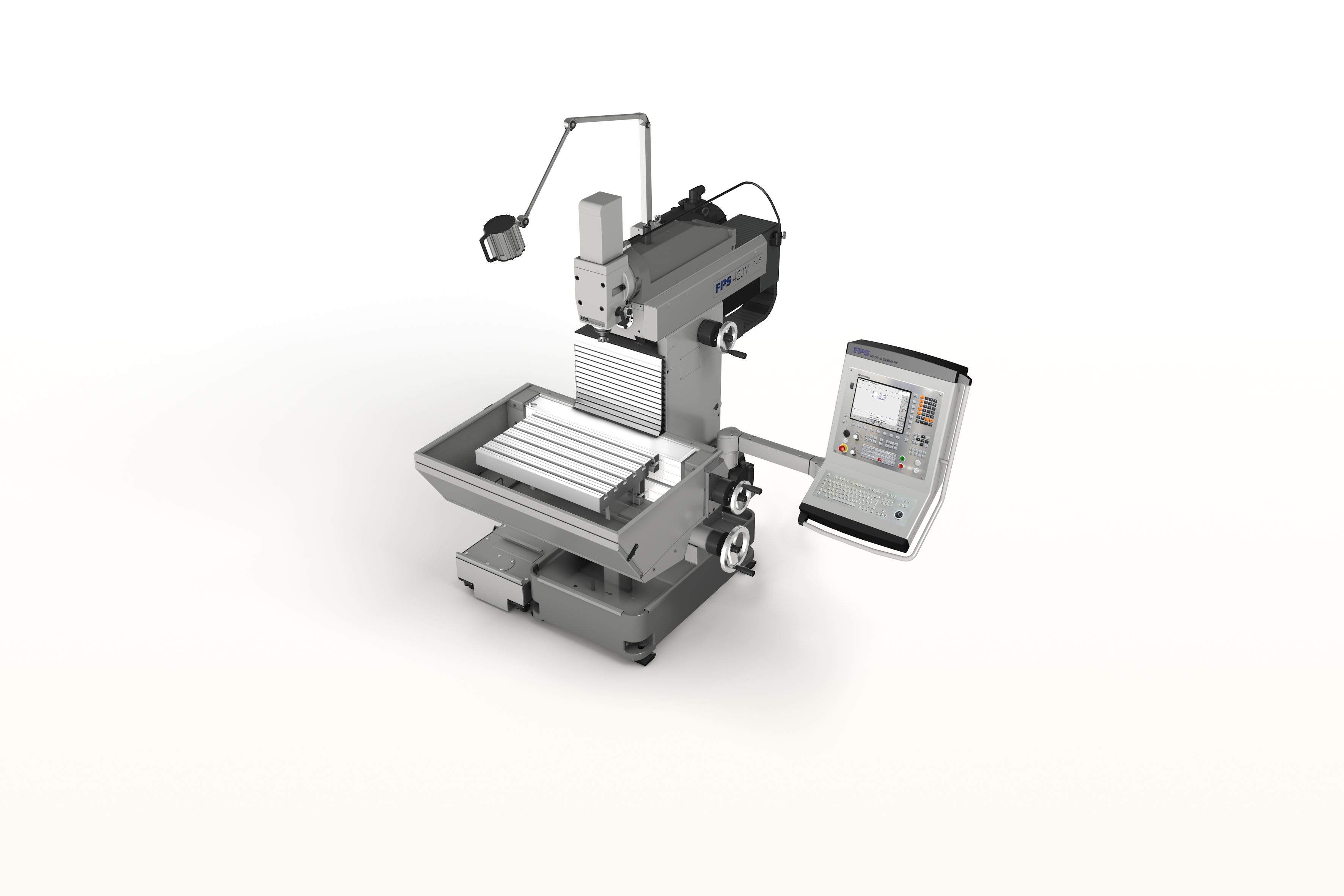 FPS 420M-plus universal milling machine and drill with linear path control, HEIDENHAIN TNC 128